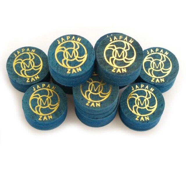 Xmlivet miễn phí vận chuyển 10 cái ZAN 14 MÉT màu xanh chuyên nghiệp billiards Pool cue mẹo S/M/H 8 lớp da billiard cung cấp Trung Quốc
