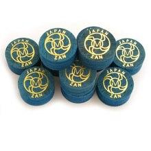 Xmlivet punta para taco de billar profesional, 14MM, color azul, S/M/H, 8 capas, suministros de billar de cuero, envío gratis, 10 Uds.