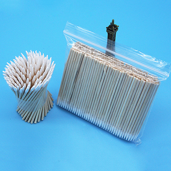 300pcs/bag Cotton Buds Swabs 7cm Long Wooden Handle Tattoo Makeup Microblade Cotton Swab Sticks Makeup Cotton Swabs