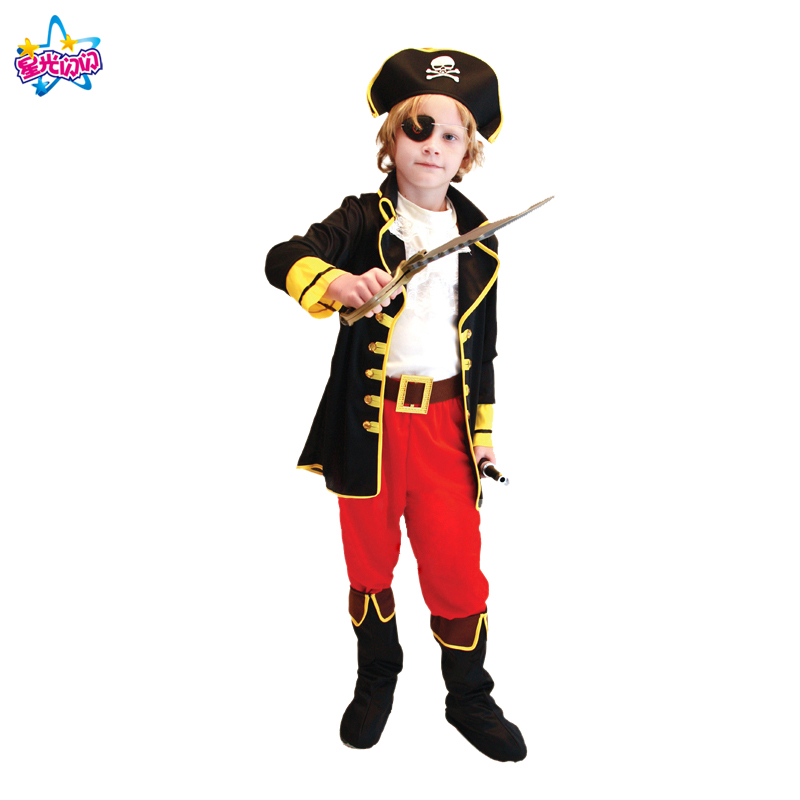 Ilmainen toimitus Puku pojille Lapset Pirate Puvut Fantasia Infantil - Carnival puvut - Valokuva 2