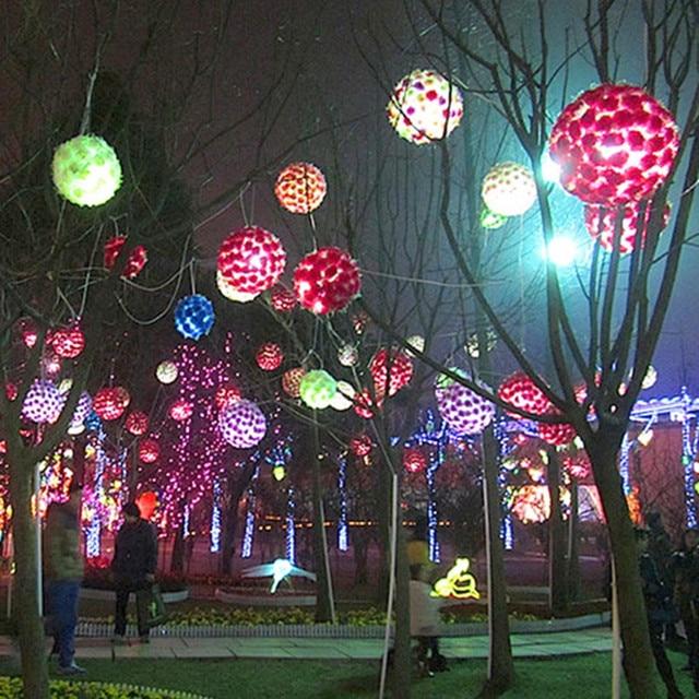 Grande Taille LED Cerise Fleur Boule Lumi¨res Lampe Vacances