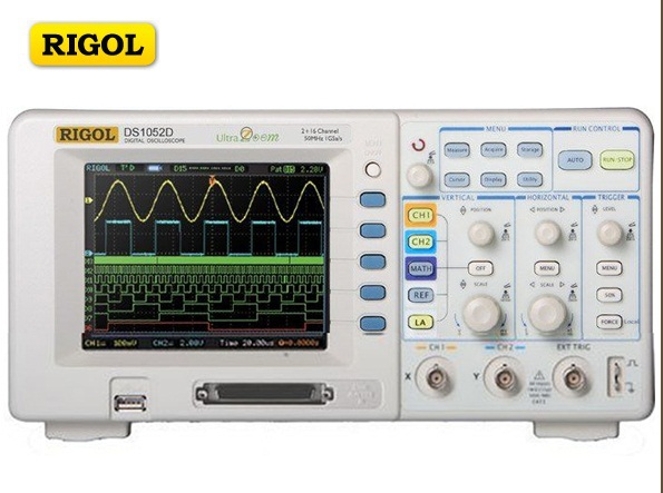 RIGOL DS1052D 50MHZ Dual Channels 1 External Trigger Channel and16 Channels Logic Analyzer Bench Digital Storage Oscilloscope
