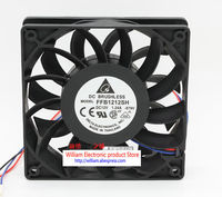 Original Delta Ffb1212sh 12025 12V 1 24A 120 120 25MM 4 Lines Tachometer Signal Computer Cooling