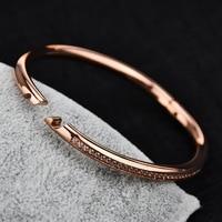 Нержавеющая сталь 5 мм ширина манжеты дружбы розовое золото серебро покрытие вакуум любителей браслет пары браслет для Для мужчин wo Для муж...