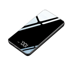 Slim LCD Mirror Screen Power Bank 10000 mAh Portable Fast Ch