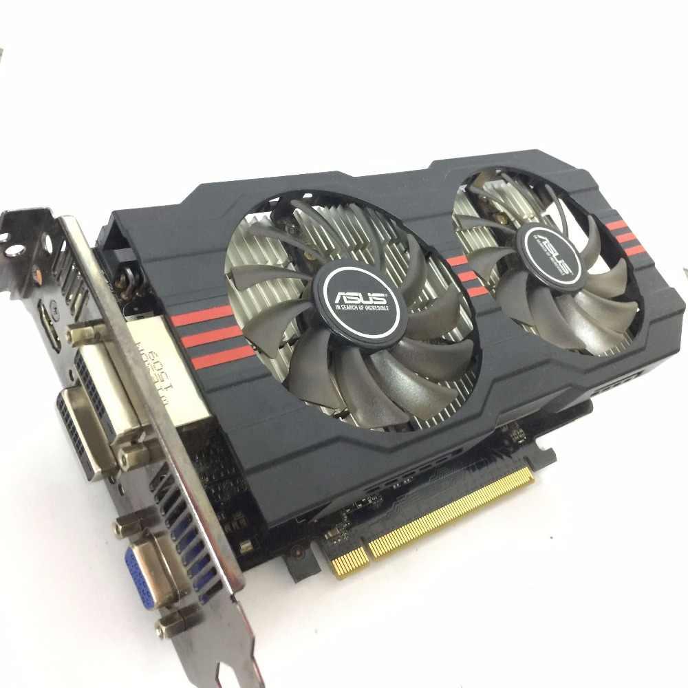 Asus GTX-750TI-OC-2GB GTX750TI GTX 750TI 2G D5 DDR5 128 بت PCI اكسبرس 3.0 الكمبيوتر بطاقة فيديو HDMI PC سطح المكتب بطاقات الرسومات