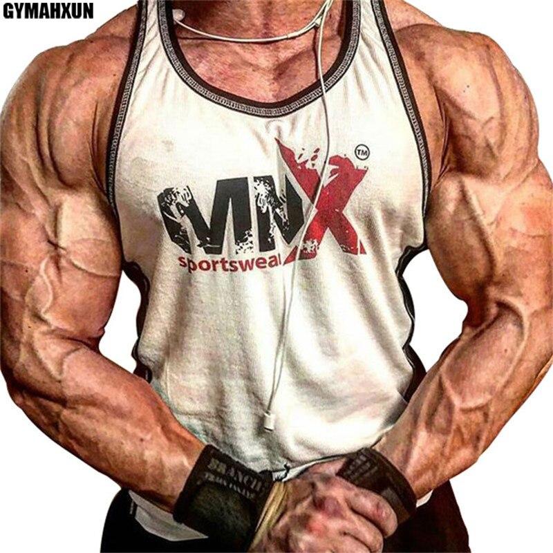 GYMAHXUN Boutique Grid compression Sleeveless vest men's breathable sweatshirt mens tank tops gyms Bodybuilding Leisure shirt