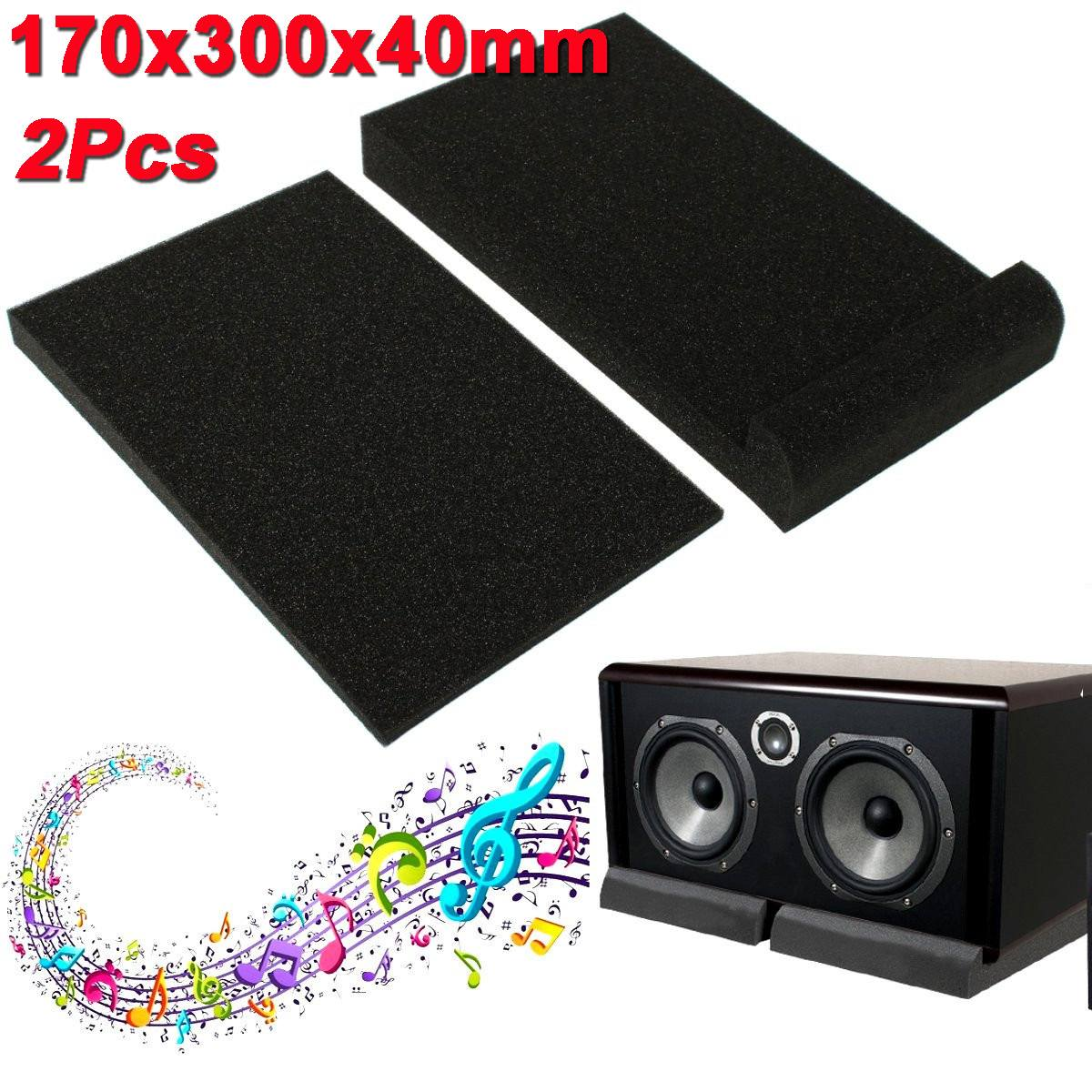 1 Set Isolator Sponge Pad Sponge Studio Monitor Speaker Acoustic Isolation Foam Isolator Pads 30x17x4cm