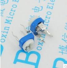 Бесплатная доставка 500 ШТ. RM065-202 2 К Горизонтальная потенциометра синий переменный резистор WH06-2