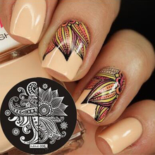 1 Piece Lace Flower Patterns  & hehe Series Nail Art Image Plate Stamper Stamping Manicure Template DIY