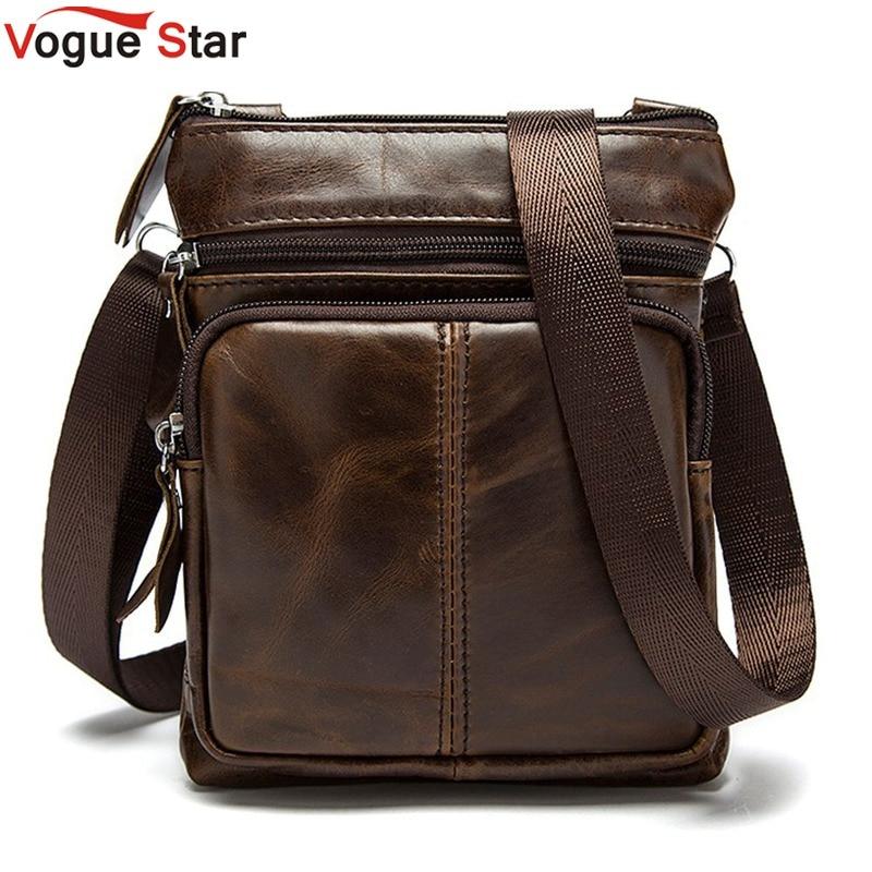 Vogue Star New Arrived Brand genuine leather men bag fashion men messenger bag bussiness bag BK7009