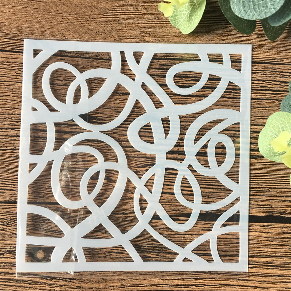 13cm Floral DIY Craft Layering Stencils Wall Painting Scrapbooking Stamping Embossing Album Card Template
