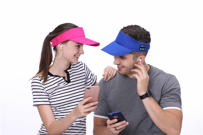 Summer Bluetooth Hat Cap Sport Headset Cap Music Baseball Cap with Microphone for Music Listening Phone Call for Mobile/Sport bluetooth beanie hat and touchscreen gloves knitted bluetooth music hat built in stereo speakers winter hat for outdoor sports