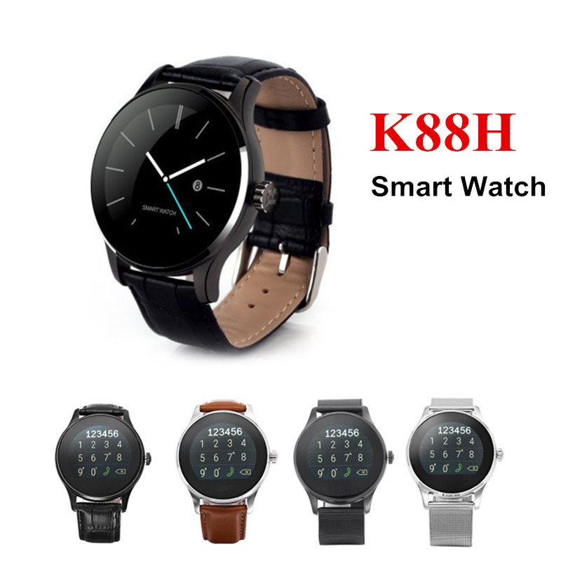 K88H MTK2502 Bluetooth 4.0 Smart Watch Dail Answer Call Heart Rate Track Wristwatch For Android IOS