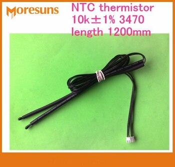 Free ship 50pcs NTC thermistor 10k 1% B3470 sensor length1200mm NTC temperature sensor