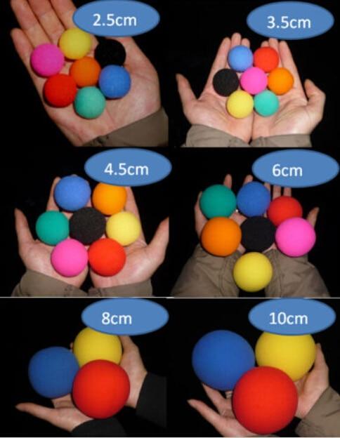 סופר ספוג כדור (4.5cm) 7 צבע לבחירה (20pcs / - צעצועים הומוריסטיים