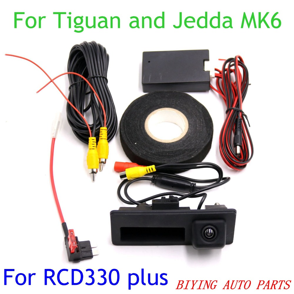 цена на HIGH QUALITY!!!RCD330 PLUS MIB AV REAR VIEW CAMERA For VW Golf 5 6 7 JETTA Mk5 MK6 TIGUAN Passat B6 B7 CC TOURAN POLO