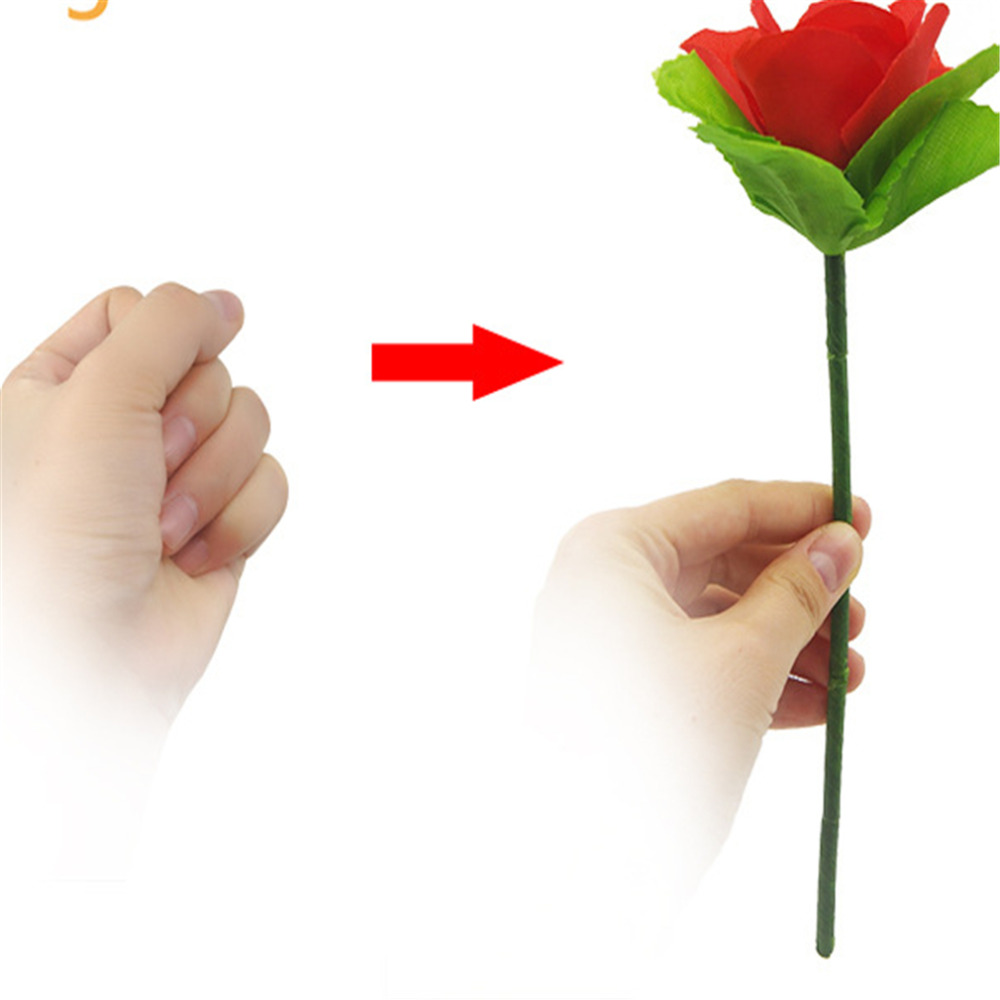 Folding Rose Appearing Magic Tricks Flower Appearing Disappear Suddenly Stage Flowers Series Street Illusion Gimmick Props Toys