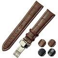 100% Cinta Faixa de Relógio de couro Genuíno Marrom Mulher Senhoras Intercambiáveis Caber Em Qualquer Faixa Preta 18mm 22mm 26mm pulseiras de relógio