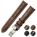 Leather 100%  Watch Band Strap Brown Genuine Woman Ladies Interchangeable Fit Any Black Belt 18mm 22mm 26mm Watchbands