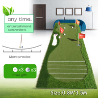 Golf putting training aids green putter swing mat scale practice device 5 holes in the green 2016 new