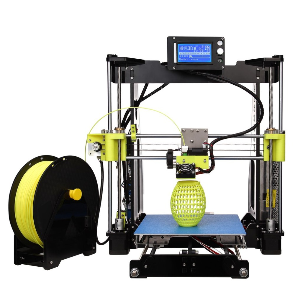 LCD Single Head 3D Printer MK8 Extruder Support Multiple Filament Large Printing Size High Precision