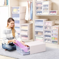 Large Storage Box Drawer Plastic Clothes Storage Cabinet Thick Toy Organizer Box Sundries Packaging Box Bra Socks Bin Home Stuff