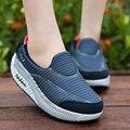 Весна Лето 2016 Женщины повседневная обувь Качели Снизу Дышащий Покачал Женская Обувь Лифт Прилив Mujers Zapatillas Размер 40