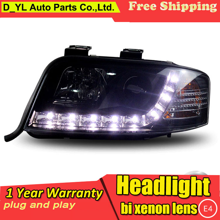 D YL Car Styling for Audi A6 Headlights 1999 2004 for Audi A6 LED Headlight DRL