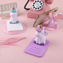 AIFFECT Soft Silicone Holder Cute Mobile Phone Stand Cartoon Desktop Bracket Unicorn