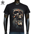 Punk Youth High Quality New Men Cool Rock T Shirt 3D Skull Head Men's Casual Short Sleeve 100% Cotton Men Tee Shirts M~3XL