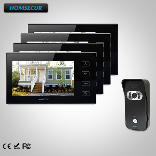 HOMSECUR 7 Wired Video Door Entry Security Intercom with One Button Unlock TC021 B Camera TM704