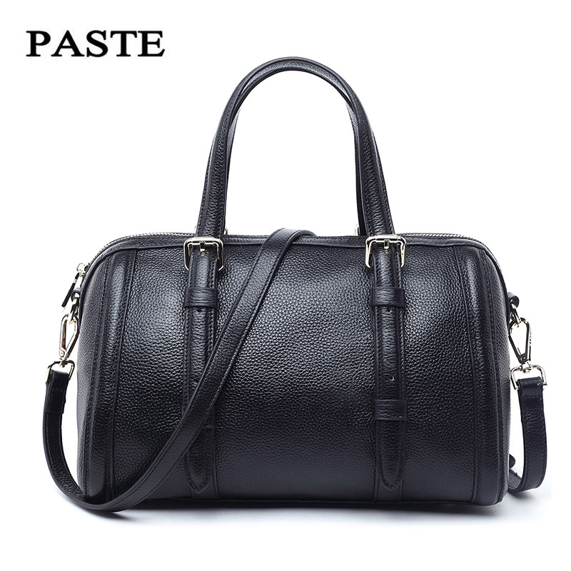 PASTE New fashion Genuine Leather Women bag Women's Handbag Shoulder Lady's Messenger Bag Luxury Designer High Capacity Handbags luxury genuine leather bag fashion brand designer women handbag cowhide leather shoulder composite bag casual totes