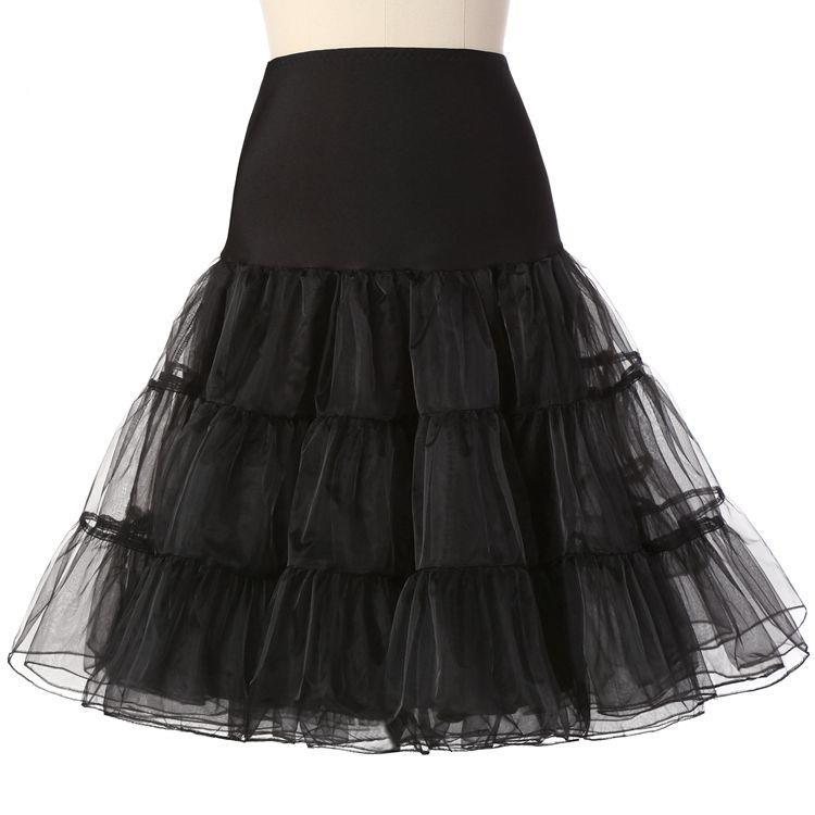 New Hot Sale Short Petticoat For Wedding Vintage Tulle Petticoat Crinoline Underskirt Rockabilly Swing Tutu Skirt