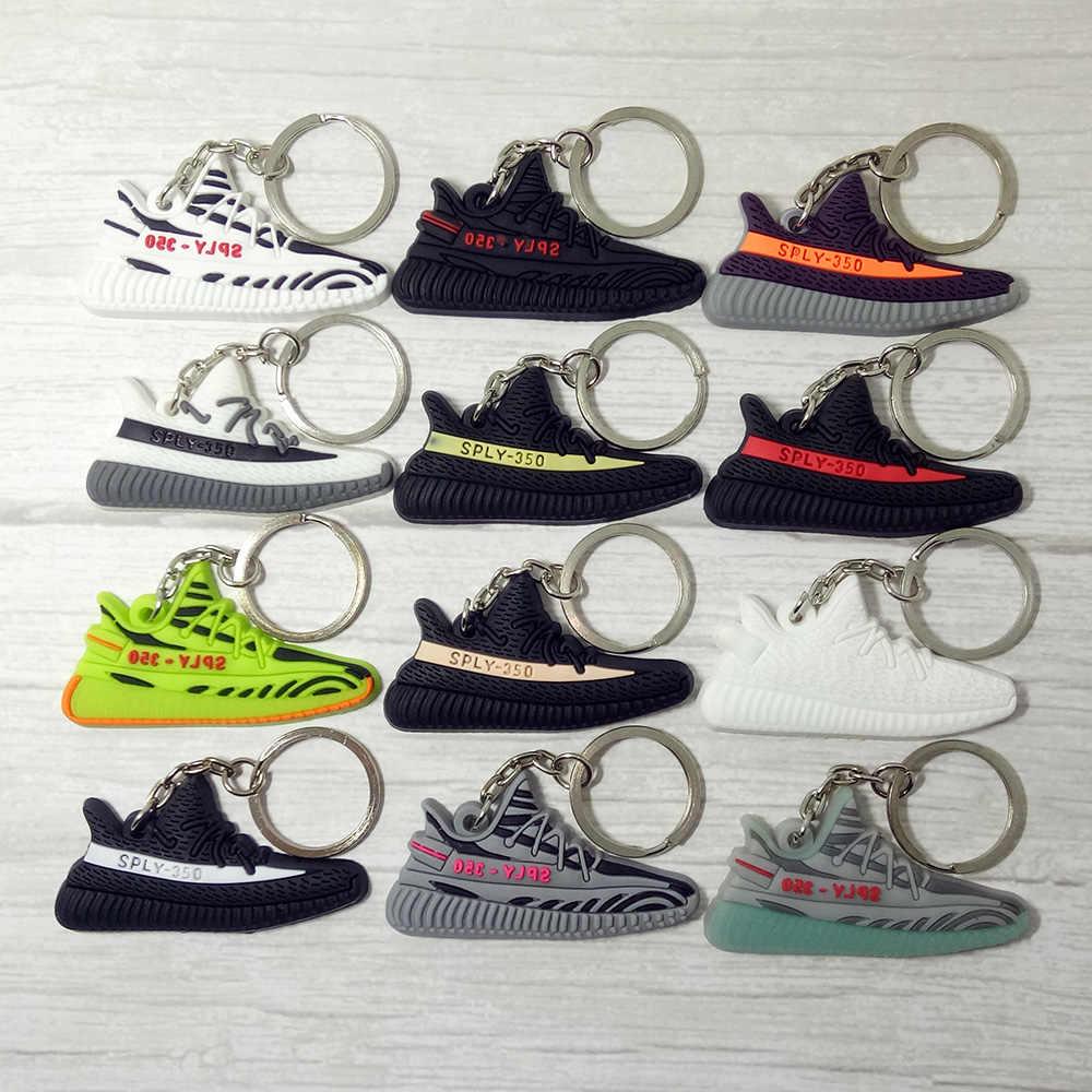 Mini Silikon BOOST 350 V2 Ayakkabı çanta anahtarlığı Charm Kadın Erkek Çocuklar Anahtarlık Anahtarlık Hediye SPLY-350 Şık Sneaker Anahtarlık
