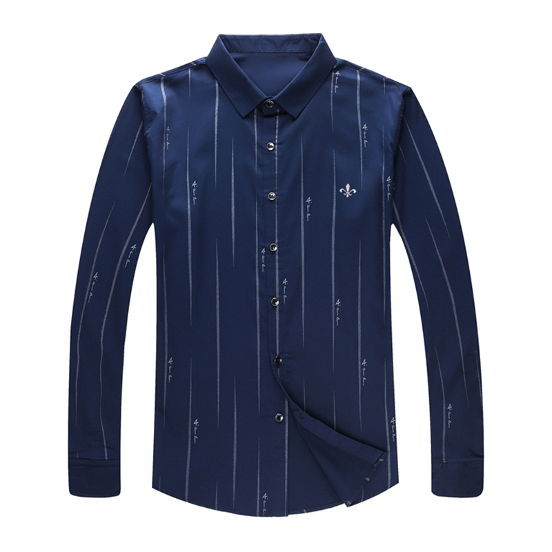 Image 5 - Dudalina Me Shirt 2019 Men's Striped Dress Shirts Male High Quality Long Sleeve Slim Fit Business Casual Shirt Camisa-in Casual Shirts from Men's Clothing