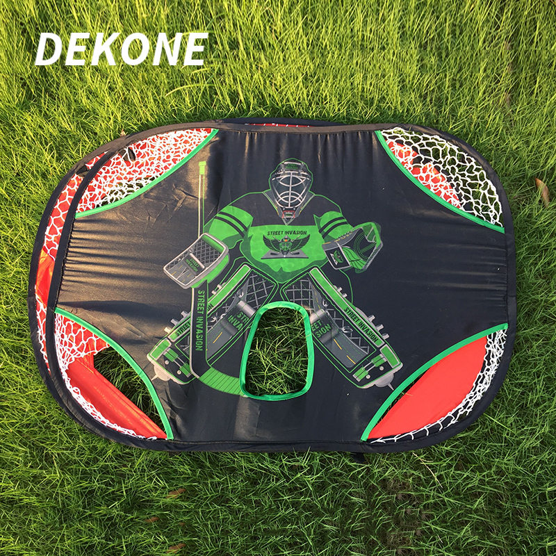Hockey Goal Football Shooting Net Durable Oxford Fabric Double Side Suit For Kids Hockey Entertainment Sports Training