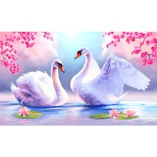Cutiepop Hot Sale New Style Love Swan Diamond Painting 5D Resin Mosaic Embroidery Rhinestone Diy Picture Paste Gifts NCP169(China)