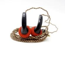 Wholesale 100% New FENGRU DIY EMX500 In-ear Earphones Flat Head Plug DIY Earphone HiFi Bass Earbuds DJ Earbuds Heavy Bass Sound Quality