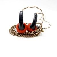 100 New Arrival In Ear Earphones Flat Head Plug DIY Earphone HiFi Bass Earbuds DJ Earbuds