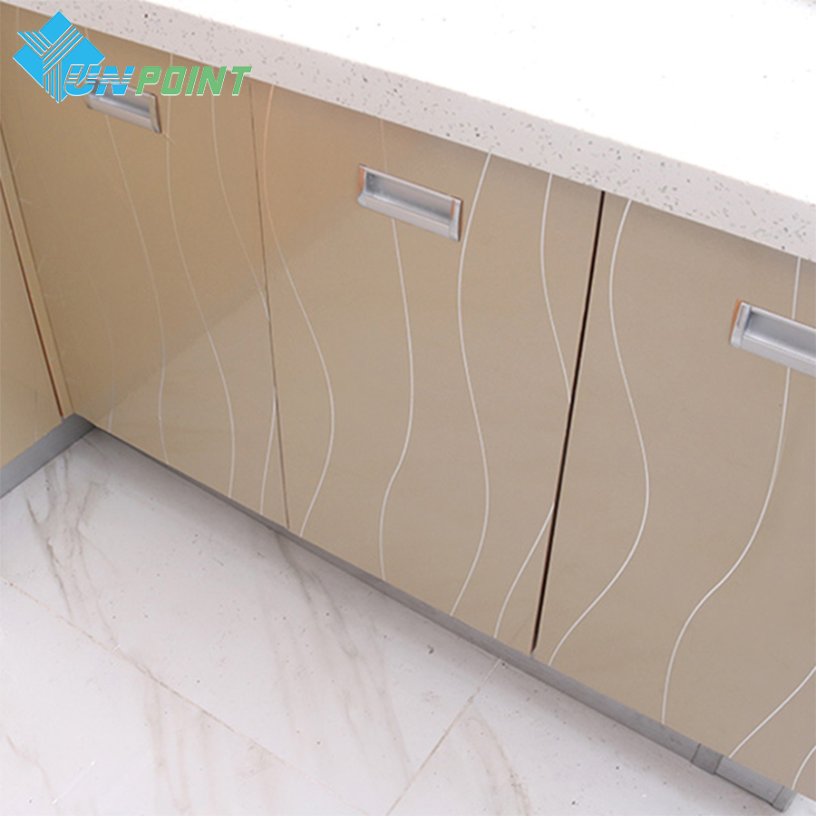 3M /4M /5M Waterproof Glitter Silver Lines PVC Stickers DIY Decorative Films Vinyl Self adhesive Wallpapers for Furniture Fridge