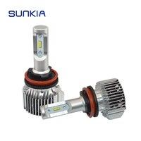 2x SUNKIA V1 Car LED Headlight H11 36w 4000LM High Bright Car Styling 11 30V DC Waterproof 6000k Auto LED Headlamp