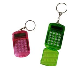 Battery Powered 8 Digits LCD Mini Calculator with Key buckle Radom Color