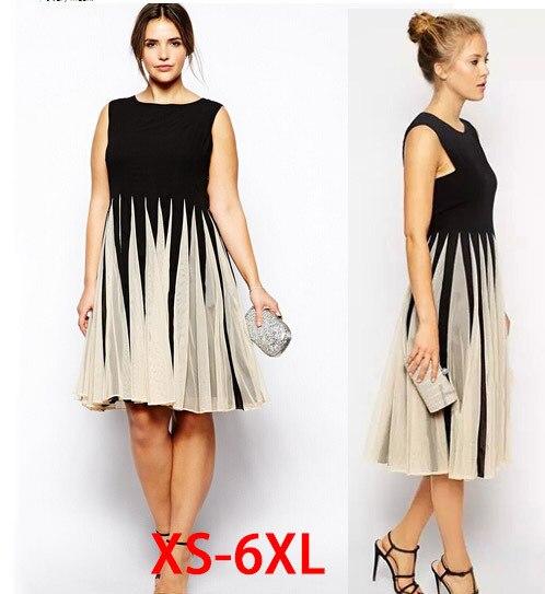 2015 verano estilo mujeres vestidos vestidos más el tamaño 4xl 5xl 6xl para las para mujer robe mini una sola pieza ocasional sin mangas de gran tamaño grande