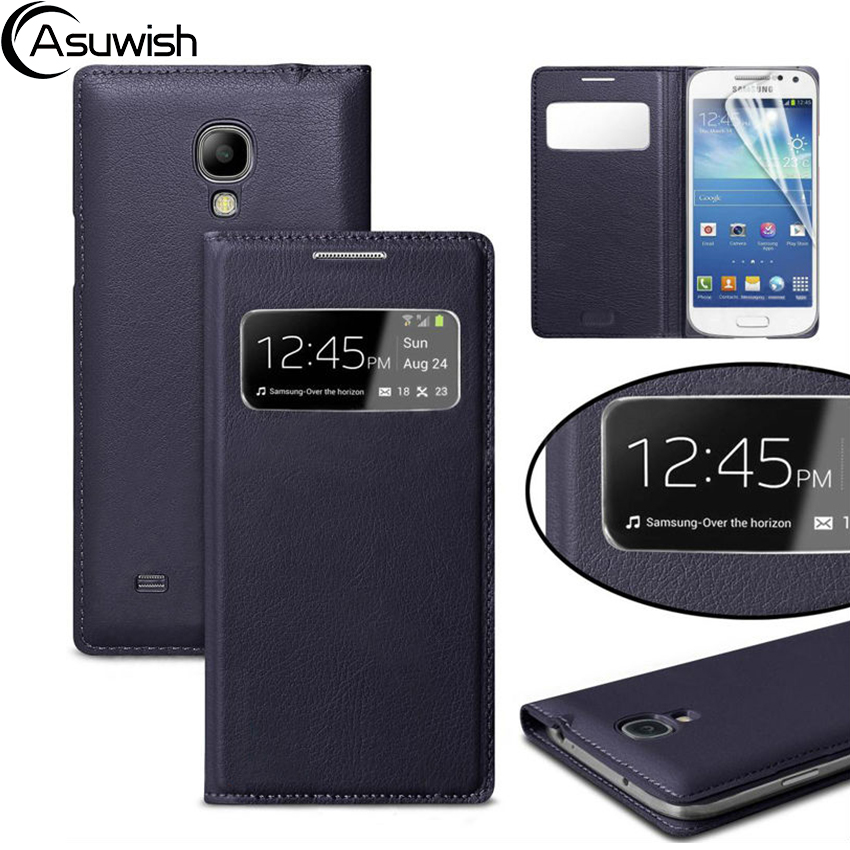 Skórzane etui z klapką Smart View Case do Samsung Galaxy S4 S 4 Mini GT I9190 I9195 I9192 GT-I9190 GT-I9505 GT-I9500