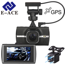 E-ACE Car Dvrs Mini Camera Dual Dash Cam Auto Video Recorder Rear View Mirror Camera Automotive GPS Car Dvr With GPS Tracker Cam