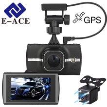 E-ACE Mini Dash Cam Grabadora De Vídeo Espejo Retrovisor Del Automóvil con DVR Y Cámara Dvr Del Coche Dvr Con El Perseguidor Del GPS para coches
