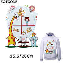 ZOTOONE Cartoon Giraffe Iron on Patches for Clothing T-shirt Sweatshirt Thermal Transfer Patch Clothes Cute Animals Stickers