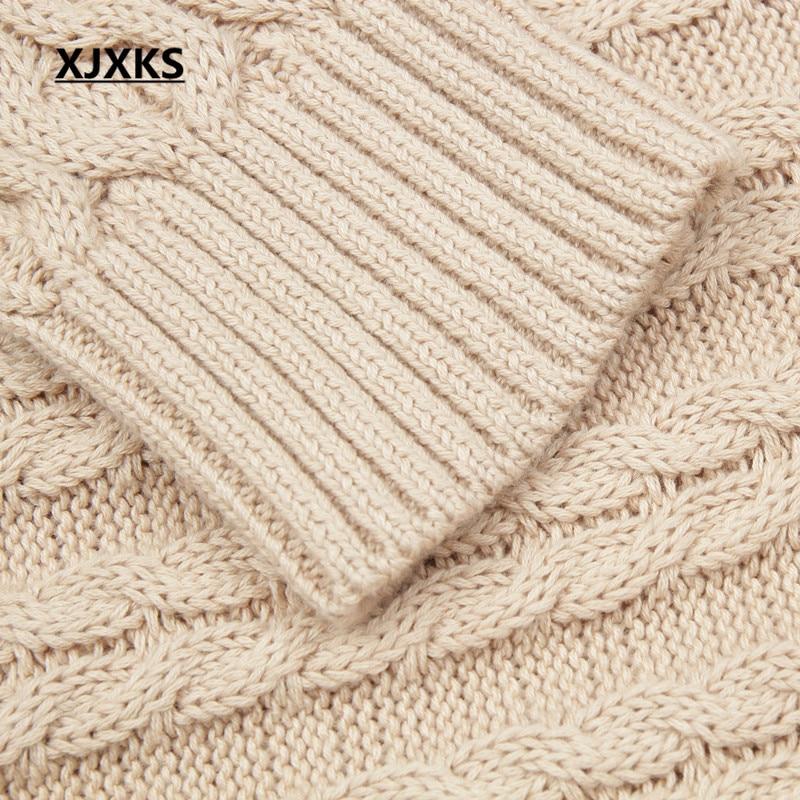 D'hiver Automne Gratuite Femelle Long Xjxks noir Robes Rond Col Beige Et Livraison jaune Couleur Pulls Solide Pull rouge q8gSwz