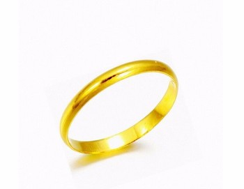 Genuine Solid 999 24K Yellow Gold / Perfect Smooth Design Ring Size 4-8